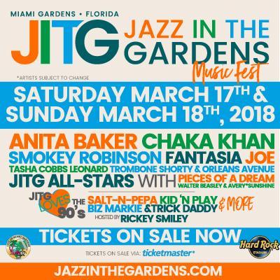 13th Annual Jazz In The Gardens Music Festival   Opa Locka Events Calendar    Social Web