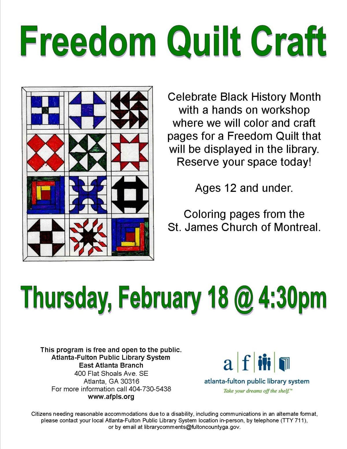 Freedom Quilt Craft Atlanta Events Calendar Social Web